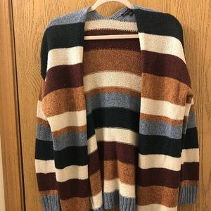Striped American Eagle Cardigan